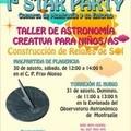 TALLERES ASTRONÓMICOS PARA NIÑOS EL PRÓXIMO DOMINGO 31 DE AGOSTO A PARTIR DE LAS 11 DE LA MAÑANA EN EL OBSERVATORIO ASTRONÓMICO
